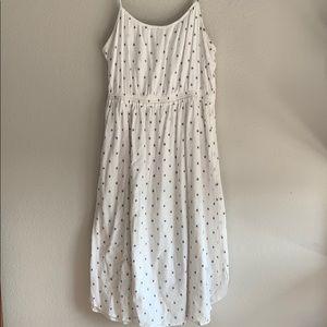 Speckled Navy and White Midi Loft Dress